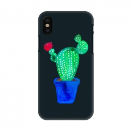 iPhone X  Red Flower Cactus by Amaya Brydon