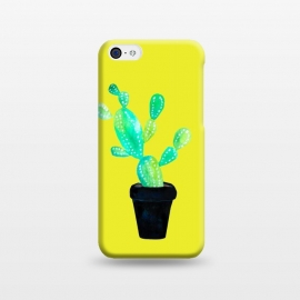 iPhone 5C  Mustard Cacti  by Amaya Brydon (cacti,catctus,plants,botanical,yellow,pot,plant)