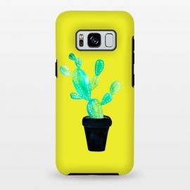 Galaxy S8 plus  Mustard Cacti  by  (cacti,catctus,plants,botanical,yellow,pot,plant)