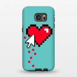 Galaxy S7 EDGE  Broken 8 bits Heart I by Dellán