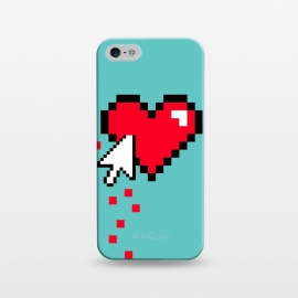 iPhone 5/5E/5s  Broken 8 bits Heart I by Dellán