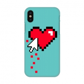 iPhone X  Broken 8 bits Heart I by Dellán