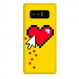 Galaxy Note 8  Broken 8 bits Heart II by  (heart,pixel,love,funny,80's,90's,8 bits,gamer,retro,vintage,retro gamer,geek,nerd,hipster,yellow,bloody)