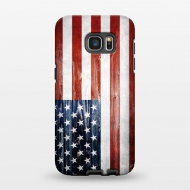 Galaxy S7 EDGE  American Wooden Flag by Nicklas Gustafsson (america,usa,flag,wooden,texture,patriotic)
