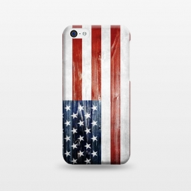 iPhone 5C  American Wooden Flag by Nicklas Gustafsson (america,usa,flag,wooden,texture,patriotic)