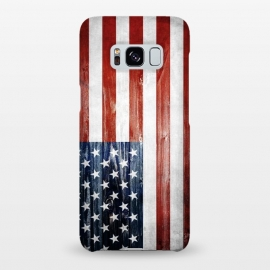 Galaxy S8+  American Wooden Flag by Nicklas Gustafsson (america,usa,flag,wooden,texture,patriotic)
