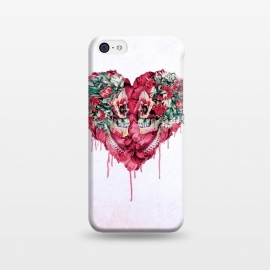 Forever Love by Riza Peker (skulls,love,red,heart,botanical,flowers)