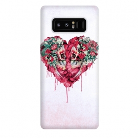 Galaxy Note 8  Forever Love by  (skulls,love,red,heart,botanical,flowers)