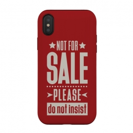 Not for sale! by Dellán (sale,salesman,money,dollar,euro,motivational quotes,minimalist,tipography,pride,dignity,funny quote,red,american style)