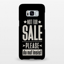 Not for sale! II  by Dellán (sale,salesman,money,bussine,business,inspirational quote,pride,disnity,funny quote,black,tipography)