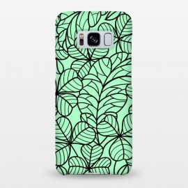 Galaxy S8+  BLACK GREEN PATTERN by MALLIKA