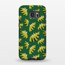Galaxy S7 EDGE  Clawed Abstract Green Leaf Pattern by Boriana Giormova