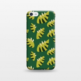 iPhone 5C  Clawed Abstract Green Leaf Pattern by Boriana Giormova