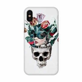 iPhone X  Skull Girl by Riza Peker