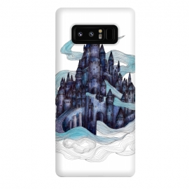 Galaxy Note 8  Dream Castle by ECMazur  (watercolor,dream,castle,castle in the sky,clouds,magical,palace)