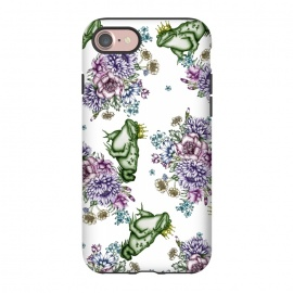 iPhone 8/7  Frog Prince Floral Pattern by ECMazur