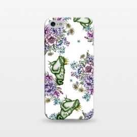 iPhone 5/5E/5s  Frog Prince Floral Pattern by ECMazur