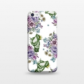 iPhone 5C  Frog Prince Floral Pattern by ECMazur