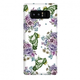 Galaxy Note 8  Frog Prince Floral Pattern by ECMazur