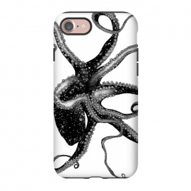 iPhone 8/7  Cosmic Octopus by ECMazur  (octopus,nature,wildlife,ocean,space,cosmic,surreal,black and white,pen art,animal,sea,under the sea)