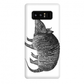 Galaxy Note 8  Little Armadillo by ECMazur  (armadillo,animal,nature,wildlife,realistic,pen art,black and white)