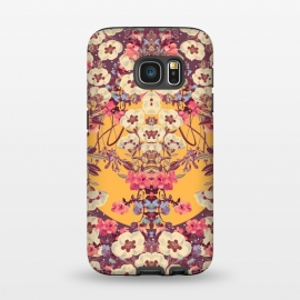 Galaxy S7  Dusky by Zala Farah (floral,vintage,flower,flowers,floral art,floral print,floral collage,flower print,flower art,symmetric,symmetric flower,vintage art,abstract)