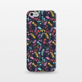 iPhone 5/5E/5s  Garden by Dunia Nalu (garden,floral,colorful,girl,navy,blue,purple)