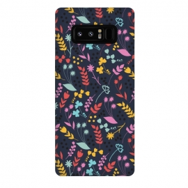 Galaxy Note 8  Garden by Dunia Nalu (garden,floral,colorful,girl,navy,blue,purple)