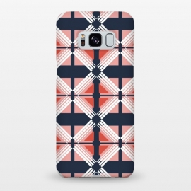 Galaxy S8+  Symmetry by Dunia Nalu (geometric,geo,lines,stripes,abstract,darkblue,rose,pink)