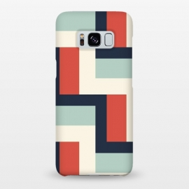 Galaxy S8+  Ribbon by Dunia Nalu (vintage,stripes,geo,geometric,abstract,beach,navy)