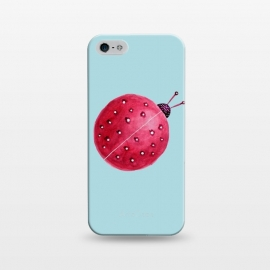 iPhone 5/5E/5s  Pretty Spherical Abstract Watercolor Ladybug by Boriana Giormova