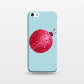 iPhone 5C  Pretty Spherical Abstract Watercolor Ladybug by Boriana Giormova