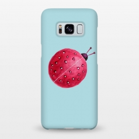 Galaxy S8+  Pretty Spherical Abstract Watercolor Ladybug by Boriana Giormova
