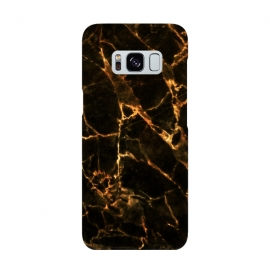 Galaxy S8  Black marble with golden cracks by Oana