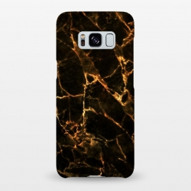 Galaxy S8+  Black marble with golden cracks by Oana