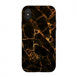 Black marble with golden cracks by Oana