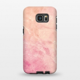 Galaxy S7 EDGE  Peach pink marble by Oana