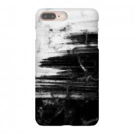 Scratched half black half white brushed marble by Oana