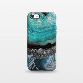 iPhone 5C  Blue turquoise agate marble close up by Oana