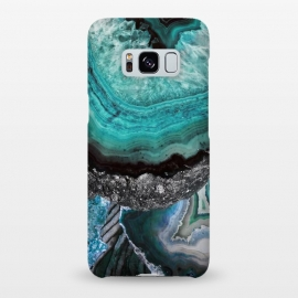 Galaxy S8+  Blue turquoise agate marble close up by Oana