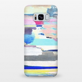 Galaxy S8+  Colorful brushstrokes watercolor stripes  by Oana