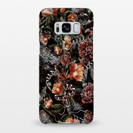 Galaxy S8+  Snake by Riza Peker (snake,botaical,floral,flowers,fall,colors)
