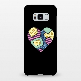 Galaxy S8+  Patchwork heart by Laura Nagel