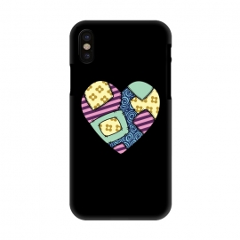 iPhone X  Patchwork heart by Laura Nagel