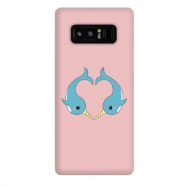 Galaxy Note 8  Narwhal heart by