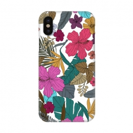 iPhone X  Tropical flower by Susanna Nousiainen
