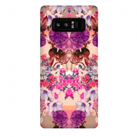 Galaxy Note 8  Dainty Garden 02 by Zala Farah (nature,floral,purple flowers,flower,flowers,flower art,flower print,flower pattern,flora,floral print,floral collage,floral art,floral pattern,nature art,botanic,garden,vintage,vintage flowers,abstract,symmetric)