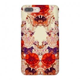 iPhone 8/7 plus  Floret of Symmetry 03 by  (nature,orange flowers,abstract,symmetric,flower,flowers,floral,floral print,botanic,garden,tropic,tropical,exotic,vintage)