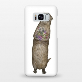 Galaxy S8+  Otter and Flowers by ECMazur
