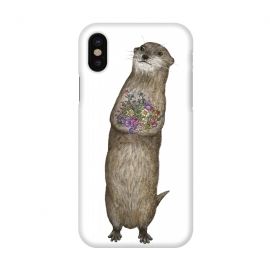 iPhone Xs / X  Otter and Flowers by ECMazur